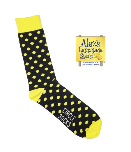 Black & Yellow Alex's Lemonade Stand Foundation Socks