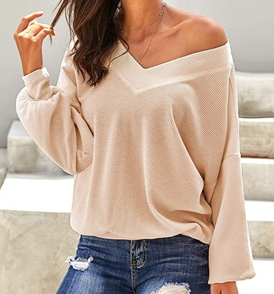 Asvivid Womens Off The Shoulder Sweater