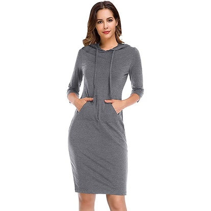 Clearlove Pullover Hoodie Dress