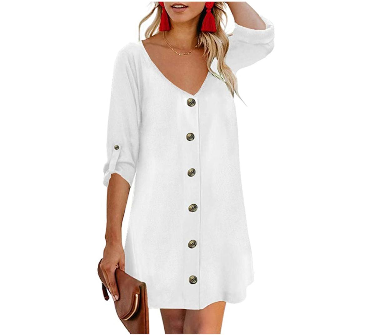 AlvaQ Button Down Dress