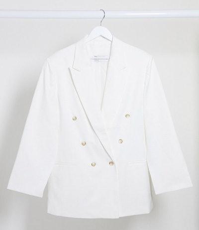 Curve Split Sleeve Suit Blazer