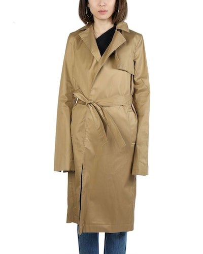 Beige Belted Trench Coat