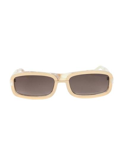 Gold & Brown Y/Project Tortoiseshell Rectangular Sunglasses