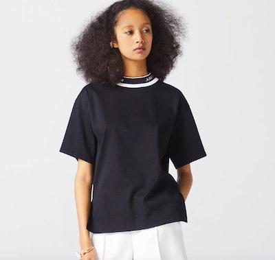 BLACK ADEAM LOGO T-SHIRT