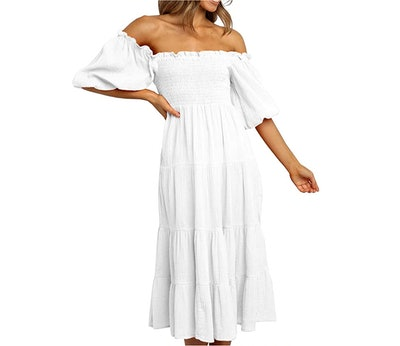 R.Vivimos Women's Summer Linen Midi Dress