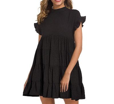 MIHOLL Women's Casual Summer Mini Dress