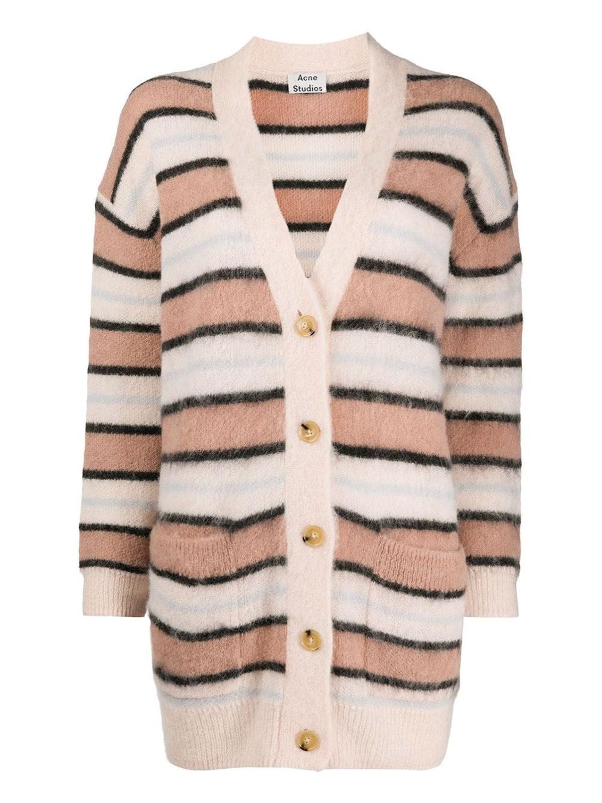 Pink Alpaca Wool Cardigan