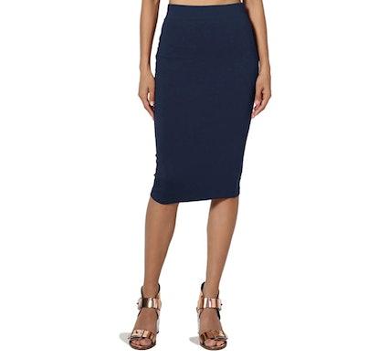 TheMogan Midi Pencil Skirt