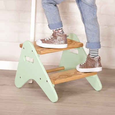 B. spaces by Battat Kids Wooden Two Step Stool