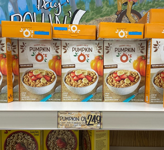 Boxes upon boxes of delicious pumpkin o cereal.