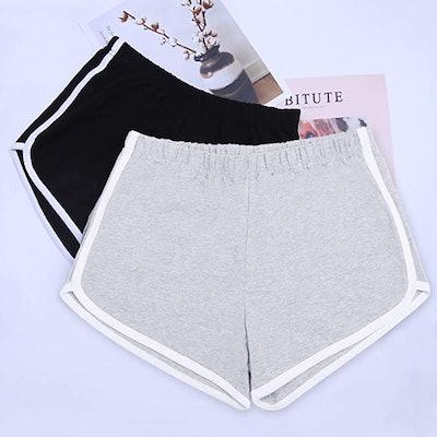 URATOT Cotton Sport Shorts Yoga Dance (2-Pack)