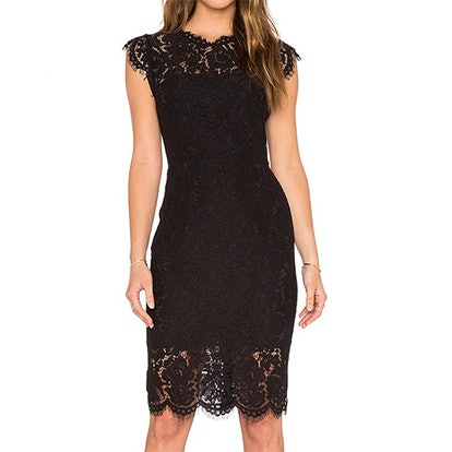 MEROKEETY Sleeveless Lace Knee Length Dress