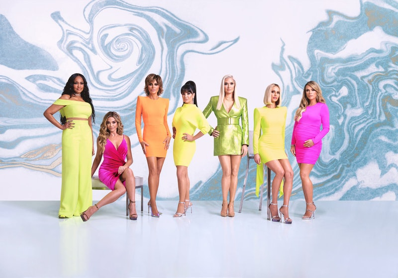 'The Real Housewives of Beverly Hills' Season 10 cast members: Garcelle Beauvais, Denise Richards, Lisa Rinna, Kyle Richards, Erika Girardi, Dorit Kemsley, and Teddi Mellencamp Arroyave via Bravo's press site