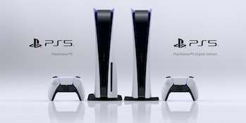 sony ps5 standard digital edition side by side