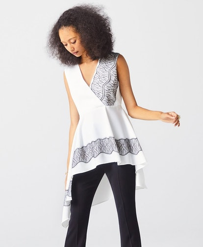 WHITE NAOMI LACE TOP