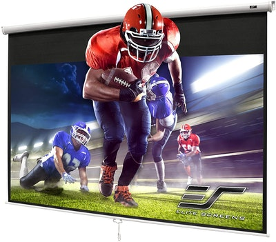 Elite Screens 100-Inch Manual Pull-Down Projector Screen