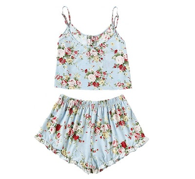 SheIn Women's Summer Floral Print Cami Top and Shorts
