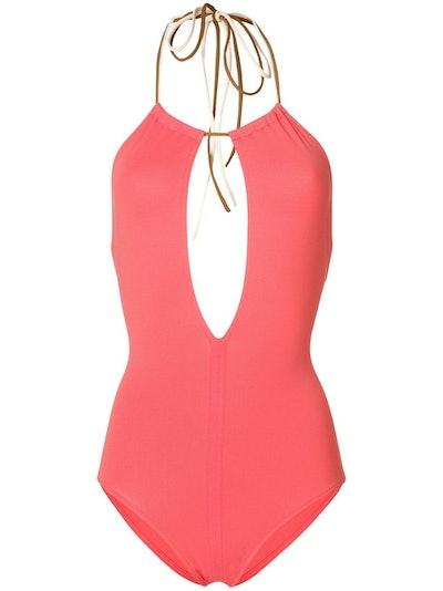 Coral Halterneck Swimsuit