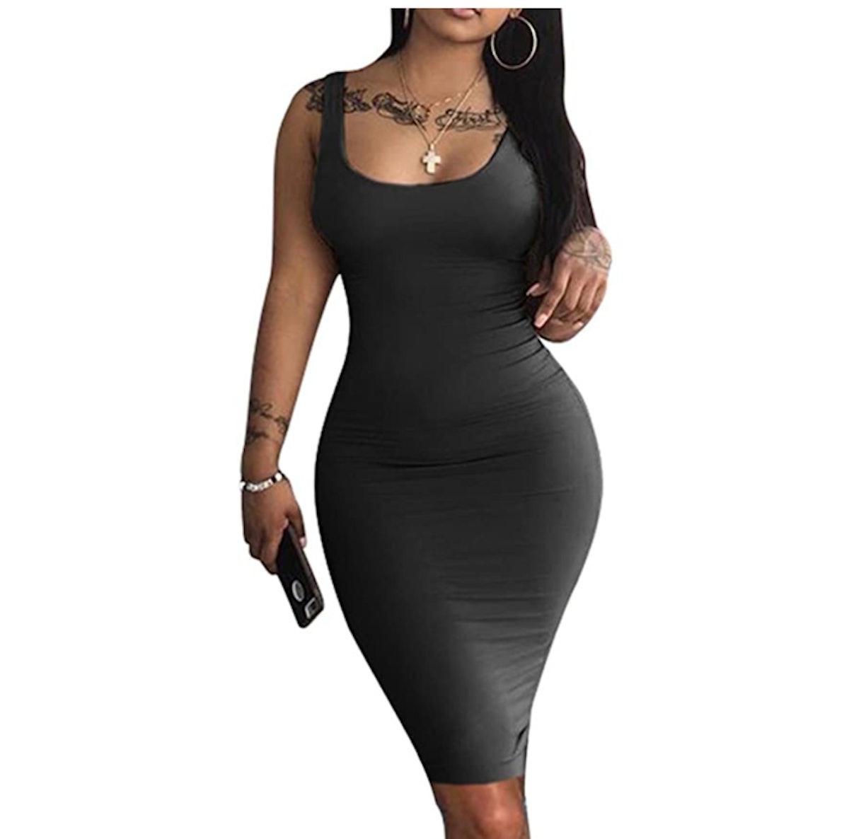 LAGSHIAN Midi Bodycon Dress