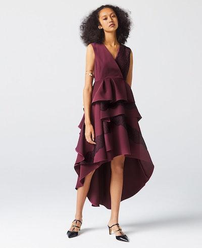 BURGUNDY NAOMI LACE DRESS