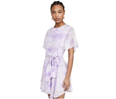 English Factory Tie Dye Braided Belt Dress