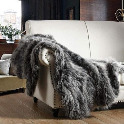 HORIMOTE HOME Luxury Faux Fur Throw Blanket
