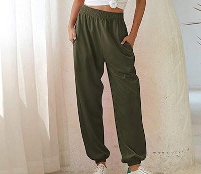 CYiNu Womens High Waisted Sweatpants