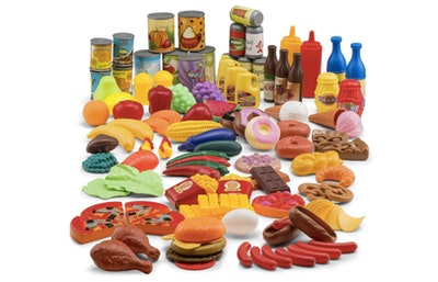 JaxoJoy Pretend Play Food Set (122 Pieces)