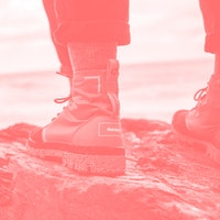 Palladium and Finisterre made a waterproof boot out of recycled materials