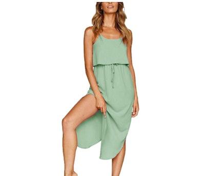 Yidarton Strappy Split Midi Dress