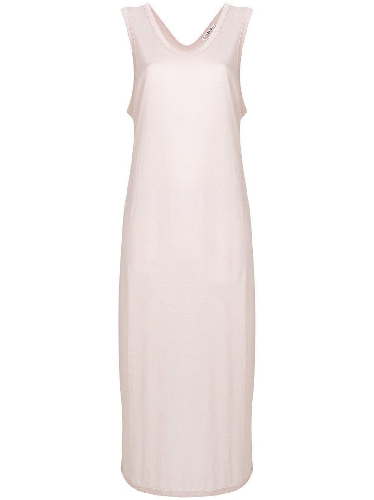 Pink U-Neck Dress