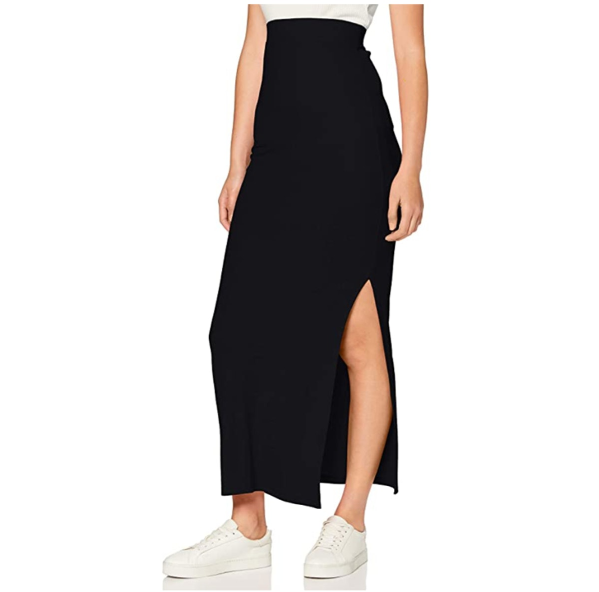 Meraki Ribbed Maxi Skirt