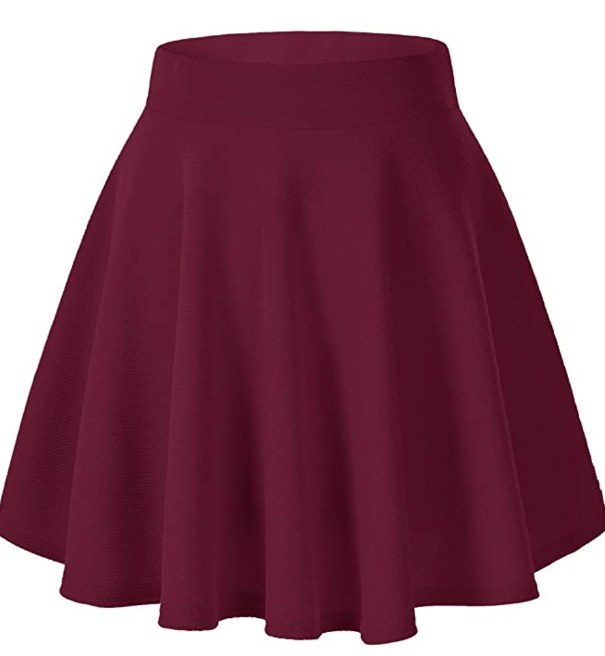 Urban CoCo Wine Red Skater Skirt