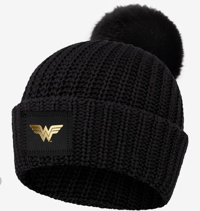 Wonder Woman™ Black Pom Beanie