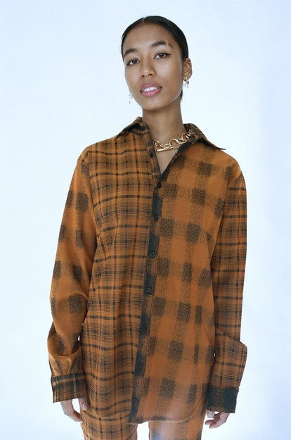 Baggy Double Plaid Top