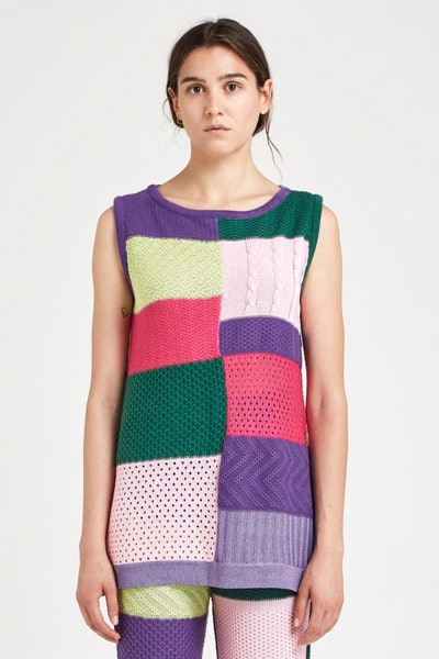 Totó Knitted Patchwork Top