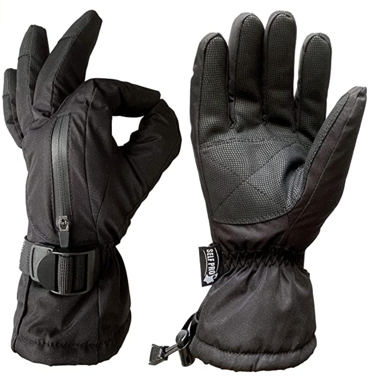 Self Pro 3M Thinsulate Black Gauntlet Gloves