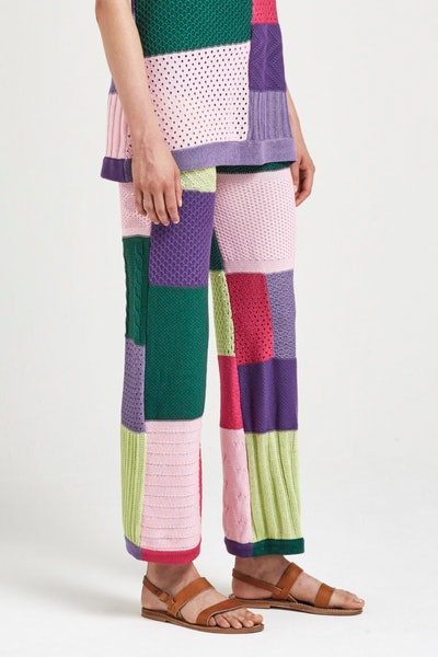 Lola Knitwear Patchwork Pants