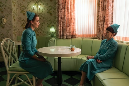 Sarah Paulson (Nurse Mildred Ratched) and Judy Davis (Nurse Betsy Bucket) in Netflix's 'Ratched' via the Netflix press site