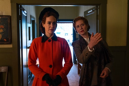 Sarah Paulson as Mildred Ratched and Cynthia Nixon as Gwendolyn Briggs in 'Ratched' via Netflix's press site
