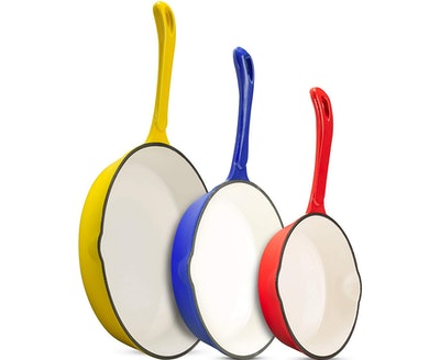 Klee Enameled Cast Iron Skillet Set