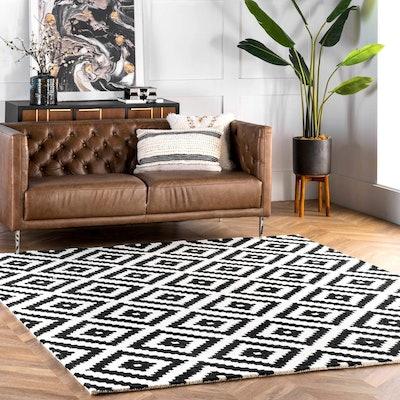 nuLOOM Kellee Contemporary Wool Area Rug (6 x 9 feet)