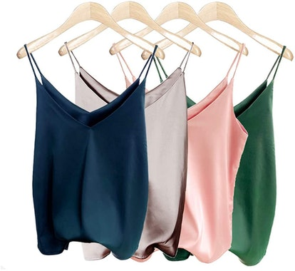 Van Royal Satin Camisole Tops (4-Pack)