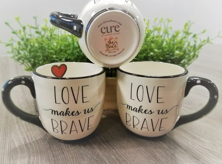"Glory Haus ""Love Makes Us Brave"" Coffee Mug"