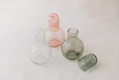 Carafe With Seeded Glass