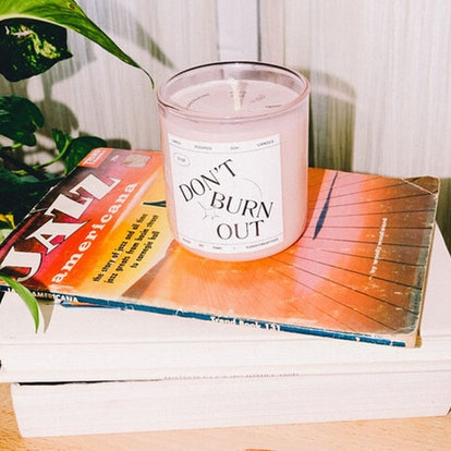 """""""Don't Burn Out"""" Candle"""