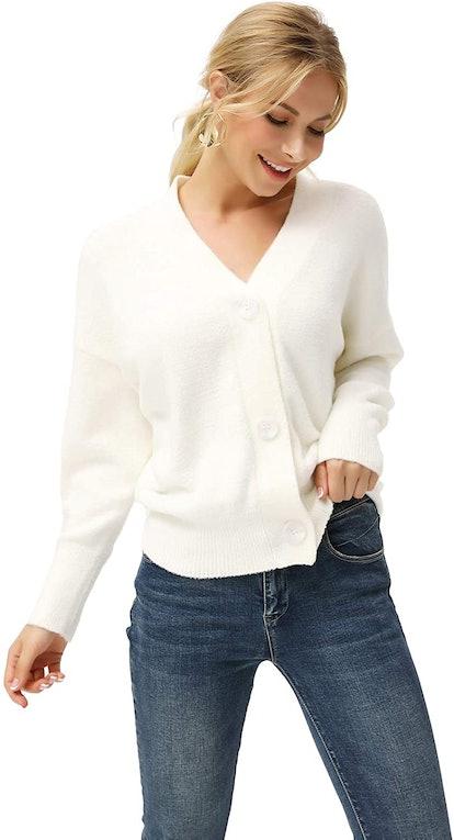 LIUMILAC Soft Cashmere Cardigan
