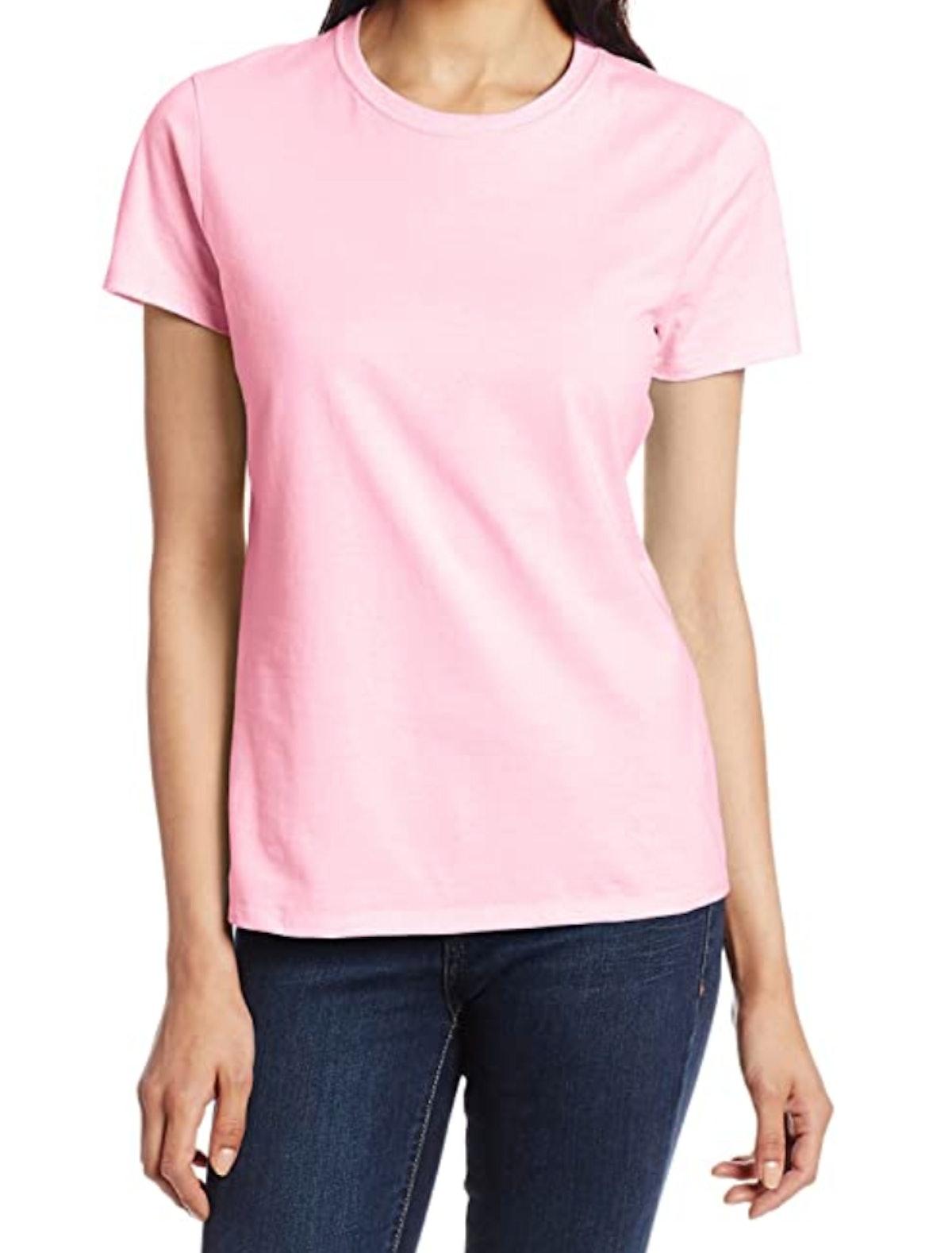 Pale Pink Hanes Nano T-Shirt