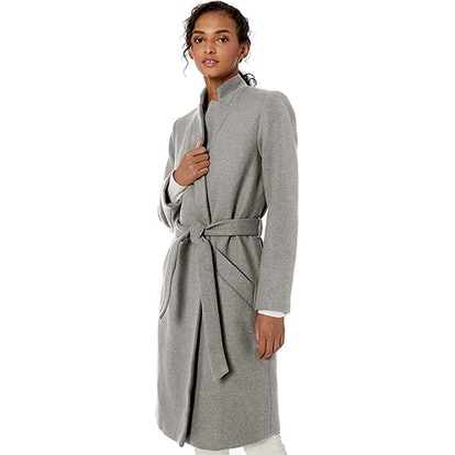 Daily Ritual Wool Blend Belted Coat