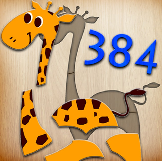 app icon for 384 Puzzles for Preschool Kids - giraffe puzzle